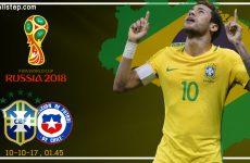 วิเคราะห์บอล ฟุตบอลโลก อเมริกาใต้ : บราซิล -vs- ชิลี