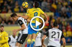 ไฮไลท์ฟุตบอล ลาลีกา สเปน :ลาส พัลมาส VS บาเลนเซีย 20-01-61