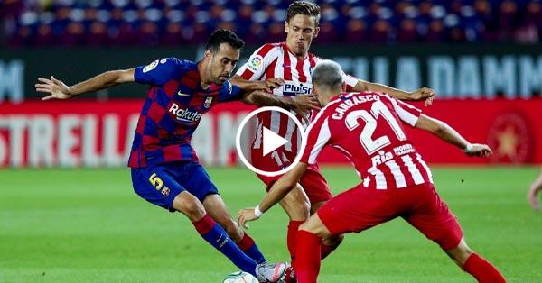 ไฮไลท์บอล ลาลีกา สเปน บาร์เซโลน่า vs แอตฯ มาดริด 30-06-63