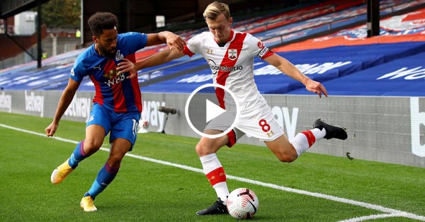 ไฮไลท์บอล พรีเมียร์ลีก อังกฤษ คริสตัล พาเลซ vs เซาแธมป์ตัน 12-09-63