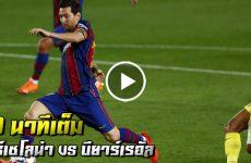 ไฮไลท์ฟุตบอล ลาลีกา สเปน บาร์เซโลน่า vs บียาร์เรอัล 90 นาที