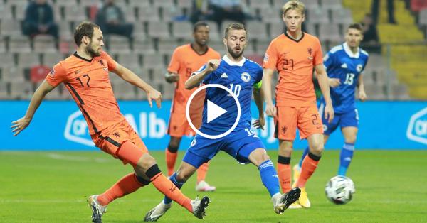 ไฮไลท์ฟุตบอล ยูฟ่า เนชั่นส์ ลีก บอสเนีย vs เนเธอร์แลนด์ 11-10-63