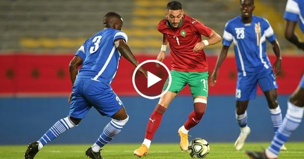 ไฮไลท์บอล โมร็อกโก vs แอฟริกากลาง