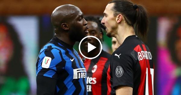 ไฮไลท์บอล โคปา อิตาเลีย อินเตอร์ มิลาน vs เอซี มิลาน 26-01-64