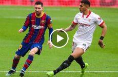 ไฮไลท์บอล ลาลีกา สเปน เซบีย่า vs บาร์เซโลน่า 27-02-64