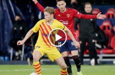 ไฮไลท์บอล ลาลีกา สเปน โอซาซูน่า vs บาร์เซโลน่า 06-03-64