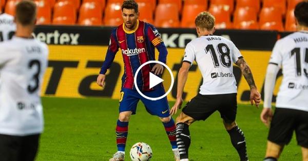 ไฮไลท์บอล ลาลีกา สเปน บาเลนเซีย vs บาร์เซโลน่า 02-05-64