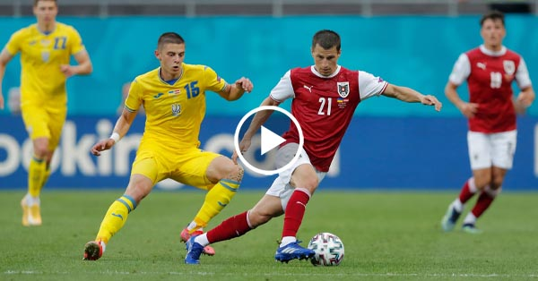 ไฮไลท์บอล ยูโร 2020 ยูเครน vs ออสเตรีย 21-06-64