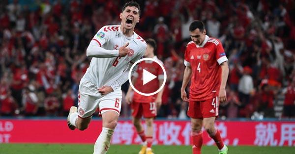 ไฮไลท์บอล ยูโร 2020 รัสเซีย vs เดนมาร์ก 21-06-64