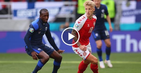 ไฮไลท์บอล ยูโร 2020 เดนมาร์ก vs ฟินแลนด์ 12-06-64
