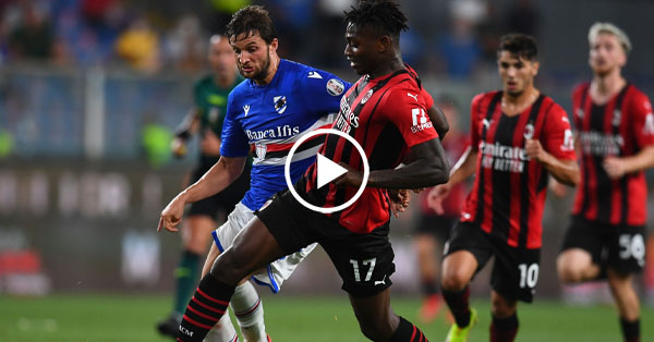 ไฮไลท์บอล กัลโช่ เซเรียอา อิตาลี ซามพ์โดเรีย vs เอซี มิลาน 23-08-64