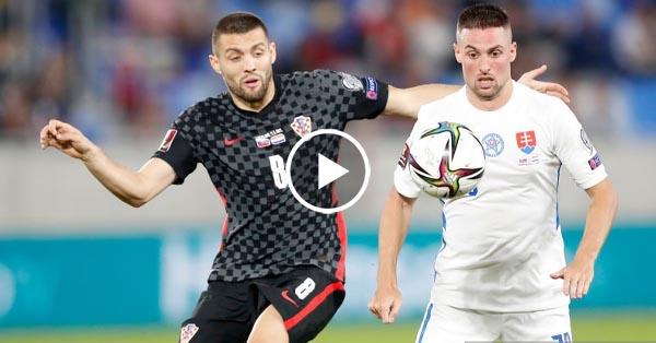 ไฮไลท์บอลโลก 2022 รอบคัดเลือกโซนยุโรป สโลวาเกีย vs โครเอเชีย 04-09-64